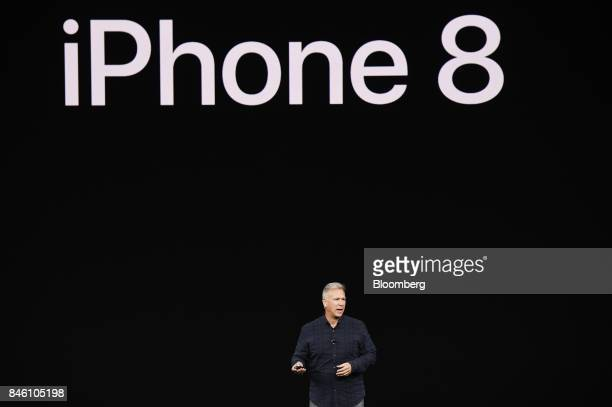 Phil Schiller senior vice president of worldwide marketing at Apple Inc speaks about the new iPhone 8 during an event at the Steve Jobs Theater in...