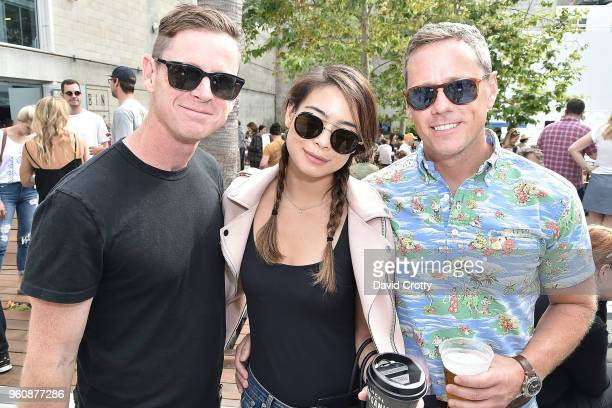 Phil Scully Jessica Teng and Brady Hahn attend the Venice Family Clinic's Art Walk Auction on May 20 2018 in Venice California