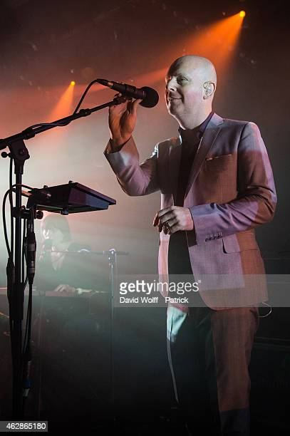 Phil Selway performs at La Maroquinerie on February 6 2015 in Paris France