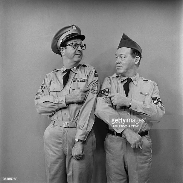 Phil Silvers as MSgt Ernest G 'Ernie' Bilko on 'The Phil Silvers Show' on March 9 1956 in New York City New York