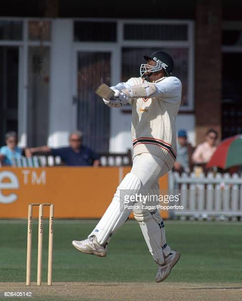 Phil Simmons batting for Leicestershire during the County Championship match between Leicestershire and Kent at Grace Road Leicester 6th June 1996