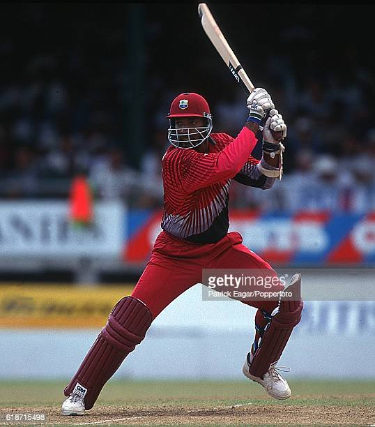 Phil Simmons batting for West Indies during the 2nd Cable and Wireless Trophy One Day International between West Indies and England at the Kensington...