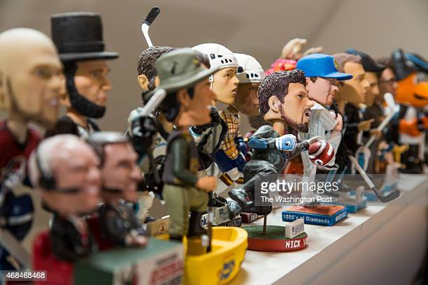 Phil Sklar and Brad Novak cofounders of National Bubblehead Hall of Fame and Museum have bobbleheads all over their house January 15 2015 in...