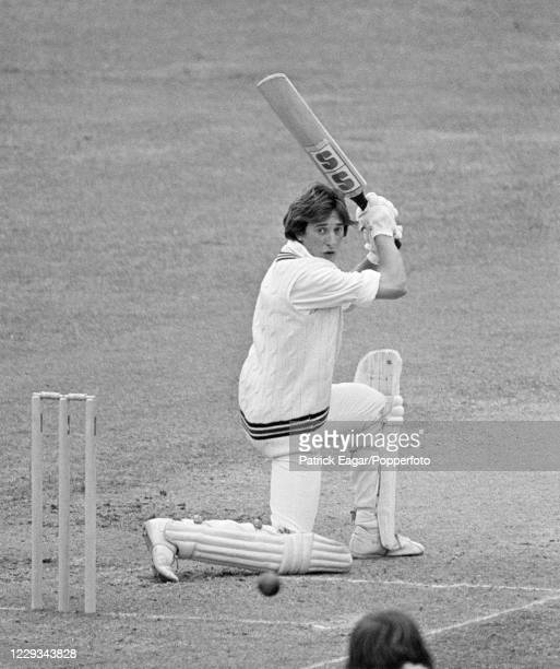 Phil Slocombe of Somerset, batting for MCC, edges the ball to the slips and is caught for 12 runs during the tour match between MCC and the...