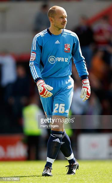 Phil Smith of Swindon Town in action during the npower League Two match between Swindon Town FC and Oxford United at the County Ground on August 21...