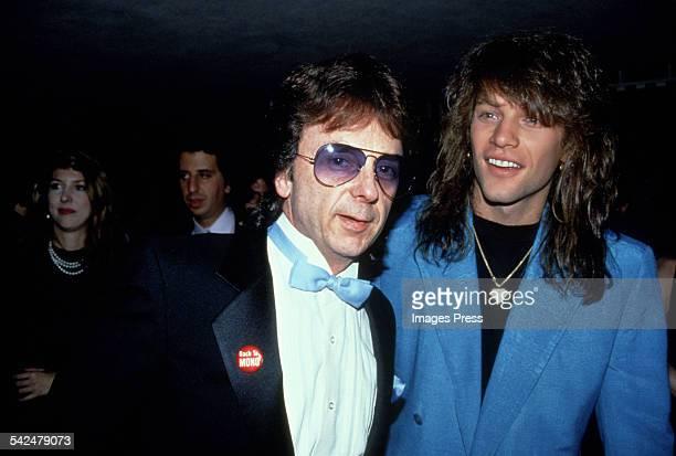 Phil Spector and Jon Bon Jovi circa 1990 in New York City.