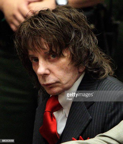 Phil Spector listens to the judge for the February 2003 shooting death of actress Lana Clarkson during sentencing in Los Angeles Crimminal Courts on...