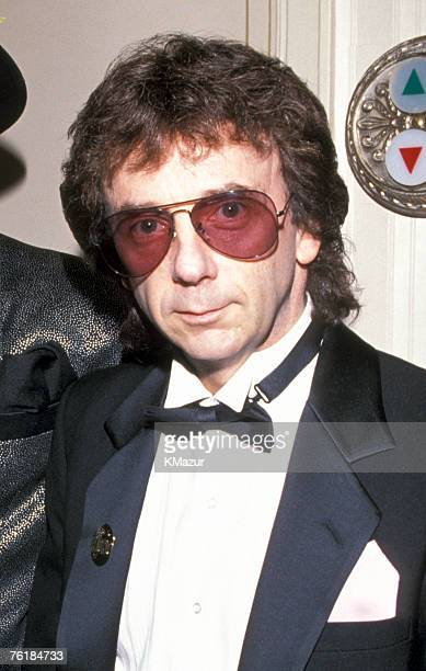 Phil Spector photographed during the Rock and Roll Hall of Fame induction ceremony in 1989.