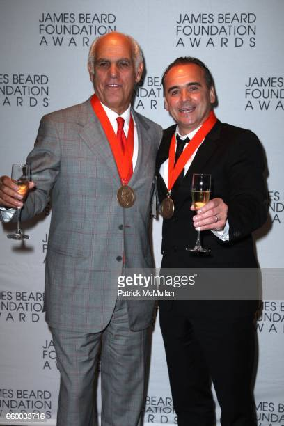 Phil Suarez and JeanGeorges Vongerichten attend The 2009 JAMES BEARD FOUNDATION AWARDS at Avery Fisher Hall at Lincoln Center on May 4 2009 in New...