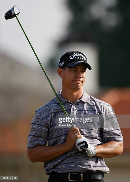 Phil Tataurangi of New Zealand watches his drive on the 13th hole during the second round of the 2008 Chitimacha Louisiana Open at the Le Triomphe...