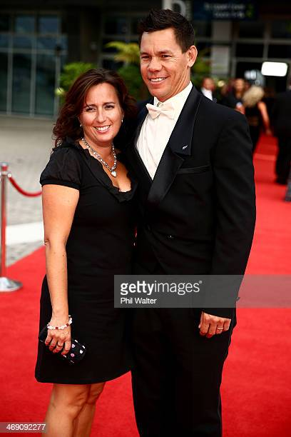 Phil Tataurangi poses on the red carpet ahead of the Westpac Halberg Awards at Vector Arena on February 13 2014 in Auckland New Zealand
