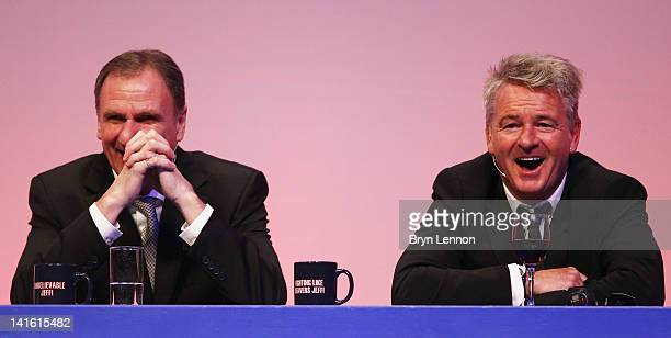 Phil Thompson and Charlie Nicholas answer questions during Gillette Soccer Saturday Live with Jeff Stelling on March 19 2012 at the Bournemouth...