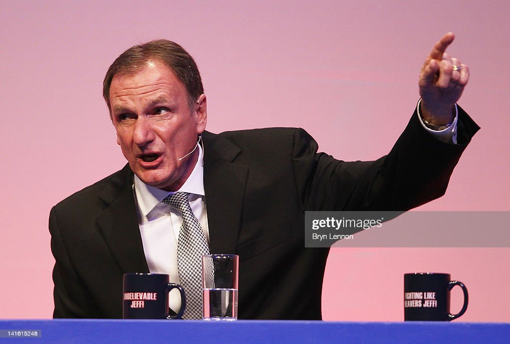 Phil Thompson answers questions during Gillette Soccer Saturday Live with Jeff Stelling on March 19, 2012 at the Bournemouth International Centre in Bournemouth, England.