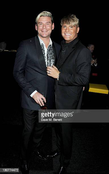 Phil Turner and Gary Cockerill attend the Grey Goose Winter Ball to benefit the Elton John AIDS Foundation at Battersea Evolution on October 29 2011...