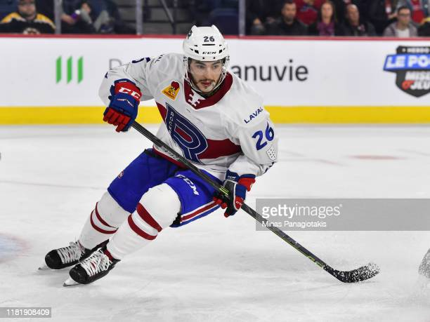 Phil Varone of the Laval Rocket skates against the Providence Bruins at Place Bell on October 16 2019 in Laval Canada The Laval Rocket defeated the...