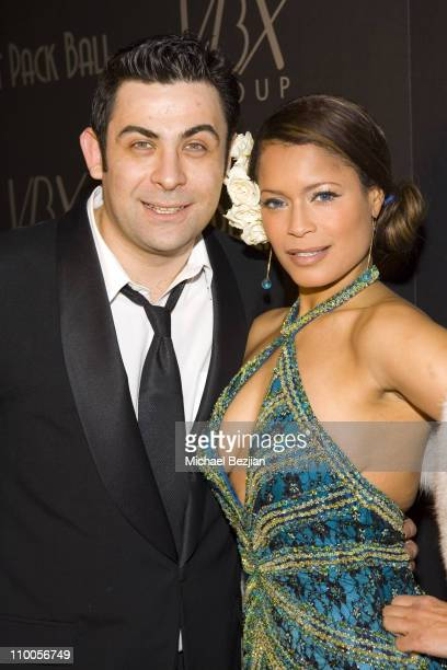 Phil Viardo and Blu Cantrell during Rat Pack Ball - December 12, 2006 at Priviledge in Hollywood, California, United States.
