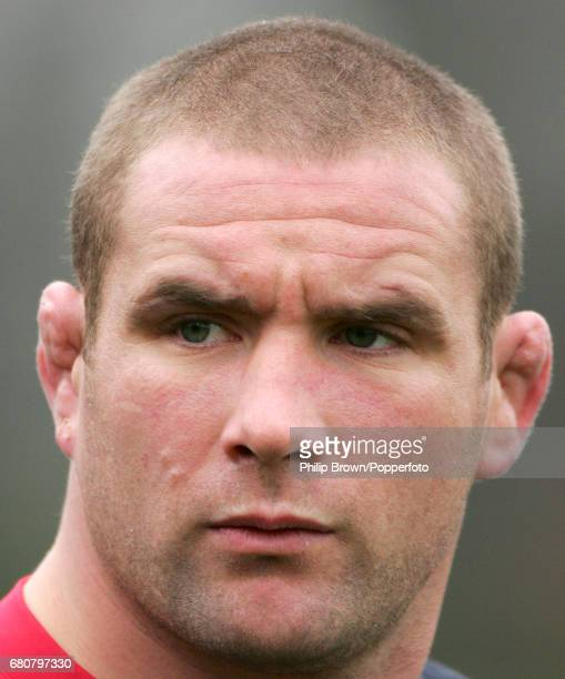 Phil Vickery of England during a training session at the University of Bath prior to the Six Nations Ematch against Scotland on the 30th January 2007