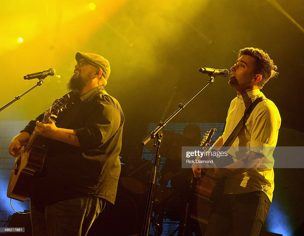 Phil Wickham And Mike Weaver Of Big Daddy Weave Perform At