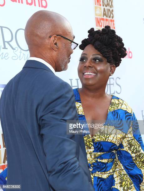 Phil Wilson and Ledisi arrive at the 16th Annual Heroes In The Struggle gala reception and awards presentation at 20th Century Fox on September 16...