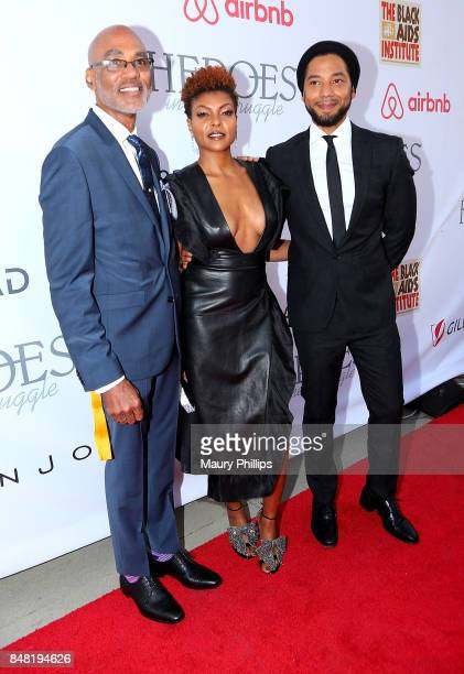 Phil Wilson Taraji P Henson and Jussie Smollett arrive at the 16th Annual Heroes In The Struggle gala reception and awards presentation at 20th...