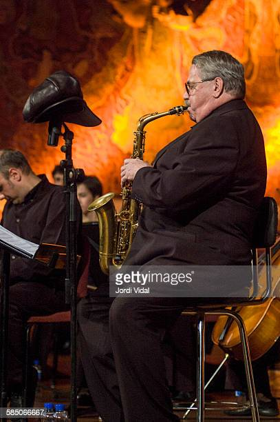 Phil Woods of Phil Woods Quartet performs on stage Bird with Stringsand more during Barcelona International Jazz Festival at Palau de la Musica on...