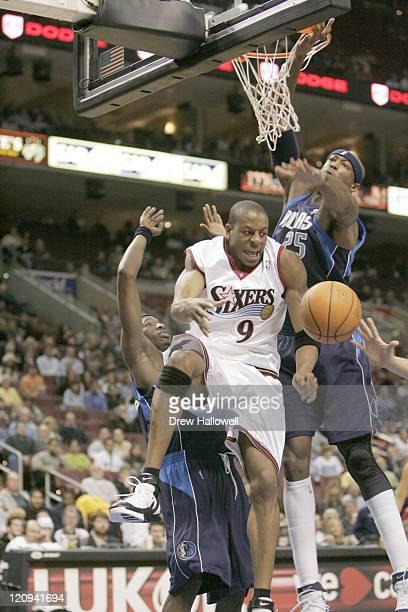 Philadelphia 76ers Andre Iguodala Wednesday Nov 9 2005 in Philadelphia PA The Philadelphia 76ers defeated the Dallas Mavericks 11297