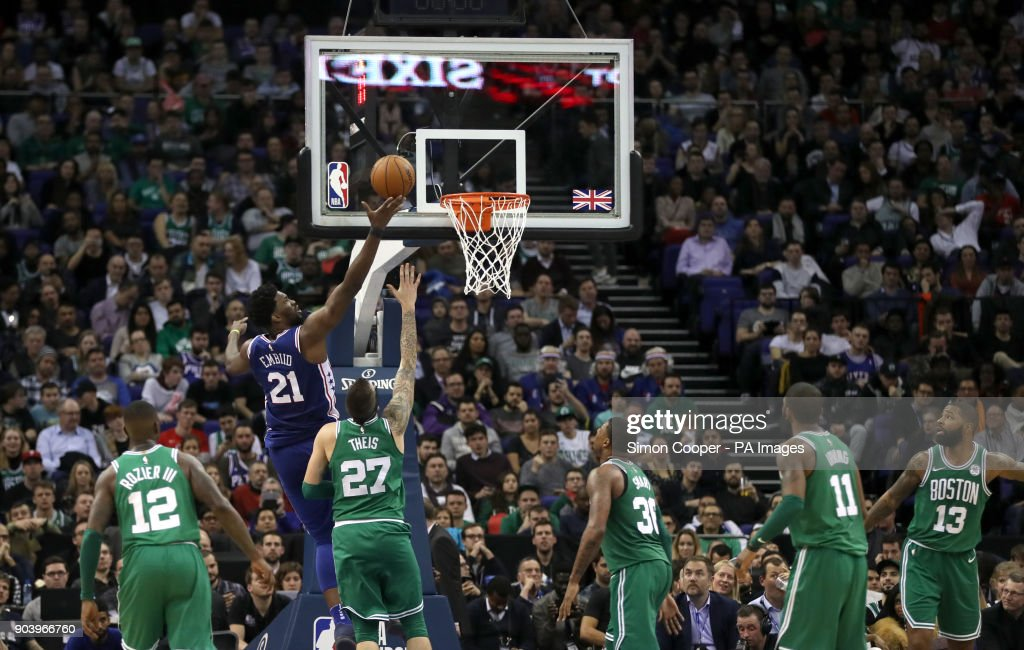 Philadelphia 76ers vs Boston Celtics - NBA London Game 2018 - O2 Arena : News Photo