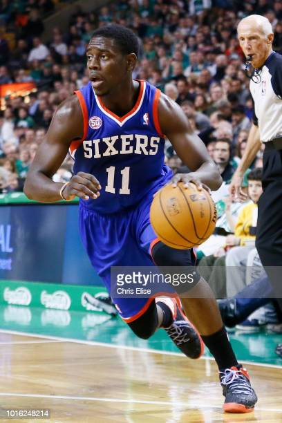 Philadelphia 76ers point guard Jrue Holiday is seen during the Boston Celtics 9279 victory over the Philadelphia 76ers at TD Garden on December 8...