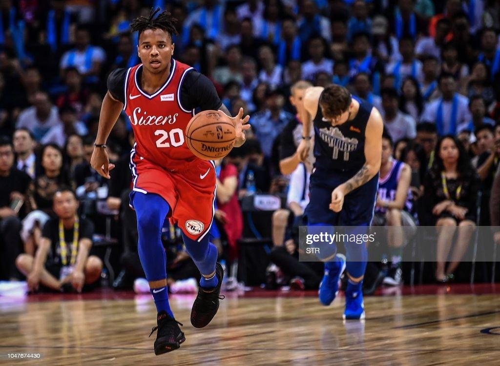 BASKET-NBA-CHN-SIXERS-MAVERICKS : News Photo