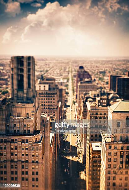Philadelphia aerial view at dusk in HDR