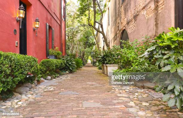 philadelphia alley, downtown charleston - historic district stock pictures, royalty-free photos & images