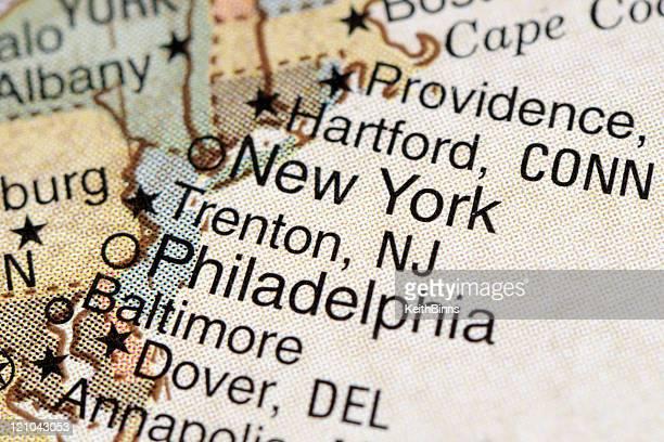 Philadelphia and New York City