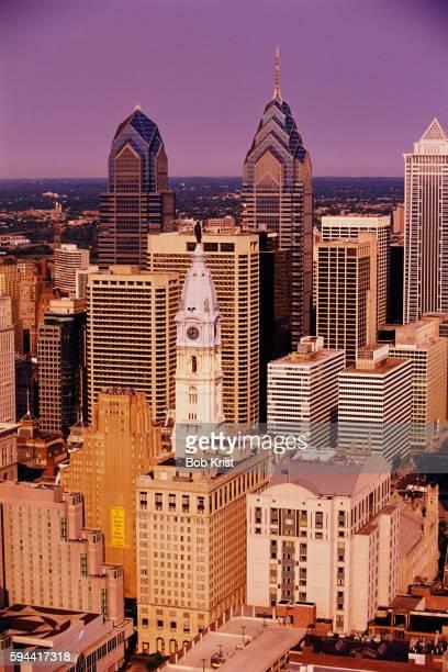 Philadelphia City Hall and Skyscrapers