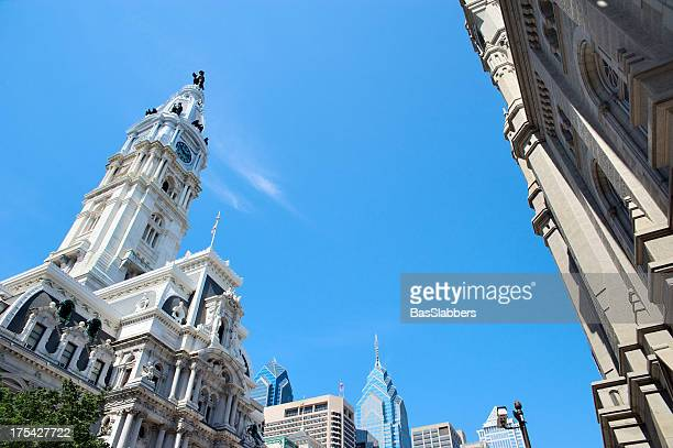 philadelphia city hall - basslabbers, bastiaan slabbers stock pictures, royalty-free photos & images