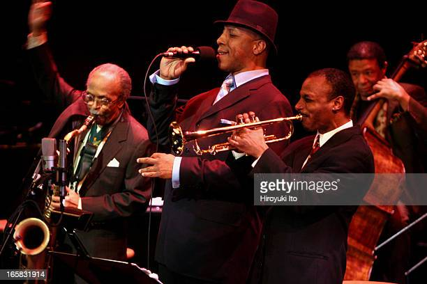 """City of Brotherly Jazz"""" at Jazz at Lincoln Center's Rose Theater on Friday night, March 10, 2006.This image:From left, Jimmy Heath , TC III , Duane..."""