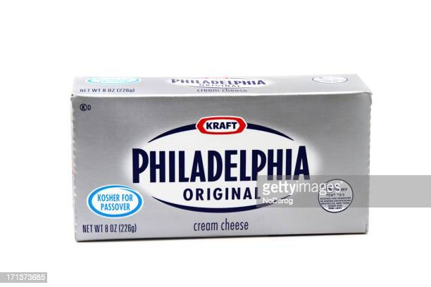 philadelphia cream cheese by kraft foods. - kraft foods stock photos and pictures