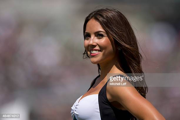 Philadelphia Eagles cheerleader looks out in the crowd during the game against the Jacksonville Jaguars on September 7 2014 at Lincoln Financial...