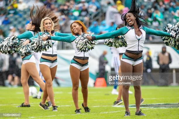 Philadelphia Eagles cheerleaders during the National Football League game between the Indianapolis Colts and the Philadelphia Eagles on September 23...