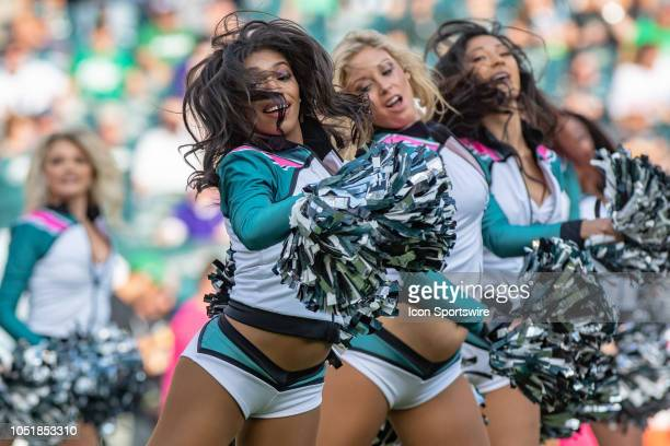 Philadelphia Eagles cheerleaders during the National Football League game between the Minnesota Vikings and the Philadelphia Eagles on October 7 2018...