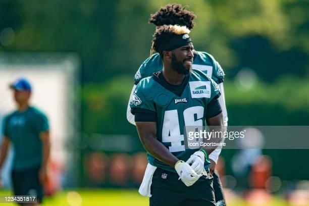 Philadelphia Eagles cornerback Josiah Scott during Philadelphia Eagles training camp on July 30, 2021 at Novacare Complex in Philadelphia, PA