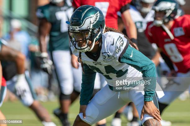 5e56d6b3aeddd3 Philadelphia Eagles cornerback Ronald Darby warms up during Eagles Training  Camp on August 2 at the