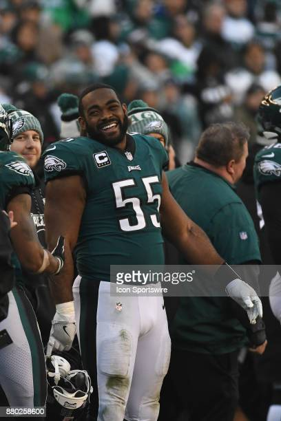 Philadelphia Eagles defensive end Brandon Graham looks on during a NFL football game between the Chicago Bears and the Philadelphia Eagles on...