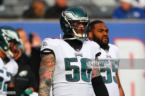 Philadelphia Eagles defensive end Chris Long prior to the National Football League game between the New York Giants and the Philadelphia Eagles on...