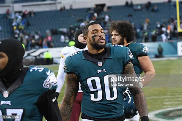 Philadelphia Eagles Defensive End Marcus Smith looks on during a National Football League game between the Washington Redskins and the Philadelphia...