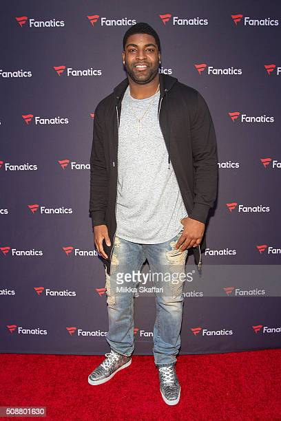 Philadelphia Eagles defensive end Vinny Curry arrives at Fanatic's Big Game Weekend Event on February 6, 2016 in San Francisco, California.