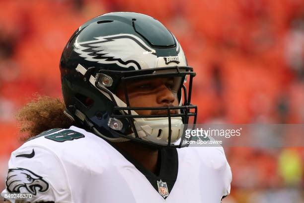 Philadelphia Eagles defensive tackle Elijah Qualls before a week 2 NFL game between the Philadelphia Eagles and Kansas City Chiefs on September 17th...