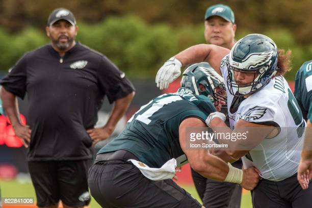 Philadelphia Eagles defensive tackle Elijah Qualls during Eagles Training Camp at The Novacare Complex in Philadelphia PA