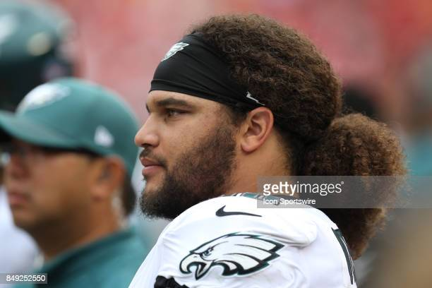 Philadelphia Eagles defensive tackle Elijah Qualls in the first quarter of a week 2 NFL game between the Philadelphia Eagles and Kansas City Chiefs...