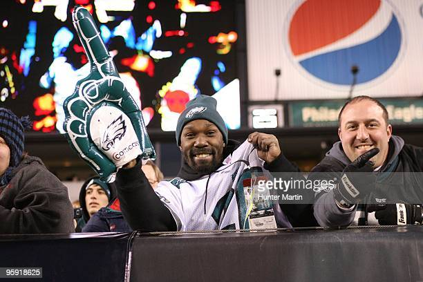 Philadelphia Eagles fan shows his support during a game against the Denver Broncos on December 27 2009 at Lincoln Financial Field in Philadelphia...