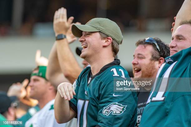 Philadelphia Eagles fans during the National Football League game between the Minnesota Vikings and the Philadelphia Eagles on October 7 2018 at...
